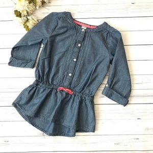 Blue Carter's Chambray Top